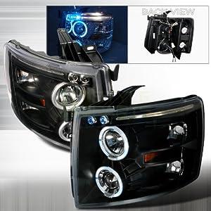 Amazon.com: 2007-2011 Chevy Silverado Halo Led Projector Headlights