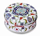 Mixed Nut Turkish Delight in Beautiful Round Keepsake Gift Tin 120g
