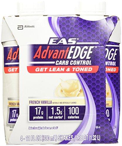 EAS AdvantEDGE Carb Control French Vanilla Carton Ready To Drink, 11-Fluid Ounce,  4 Count (Eas Advantage Vanilla compare prices)