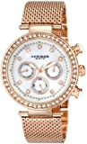"Akribos XXIV Women's AK682RG ""Lady"" Crystal-Accented Stainless Steel Watch"