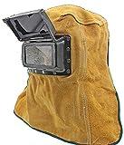 macaroni(マカロニ) 遮光 窓 付き 牛革 溶接 面 マスク 保護具 火傷 防止