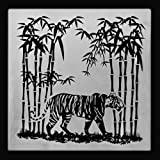 Tiger Territory Exclusive Engraved Glass Coaster
