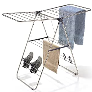 Polder Collapsible Indoor/Outdoor Y Laundry Drying Rack, Stainless Steel