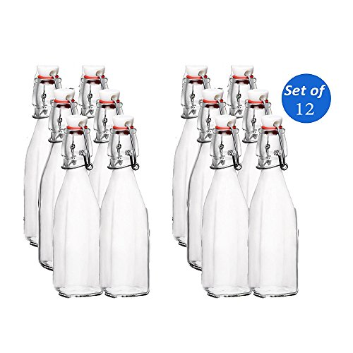 Bormioli Rocco Swing Top Bottles - 8.5 Ounce - Set of 12