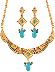 Variation Blue Fashion Necklace Set For Women (VD15923)