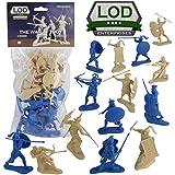 LOD Trojan War GREEKS vs. TROJANS Soldiers: 16 BLUE & TAN 1:30 Plastic Figures