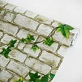 Ivy Wall Gray - Vinyl Self-Adhesive Wallpaper Prepasted Wall stickers Wall Decor (Roll)