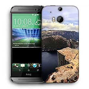 Snoogg Abstract Hill Printed Protective Phone Back Case Cover For HTC One M8