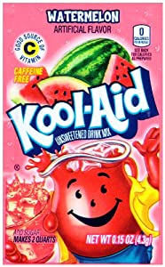 Kool-Aid Unsweetened Drink Mix, Watermelon, .15 Ounce (Pack of 192)