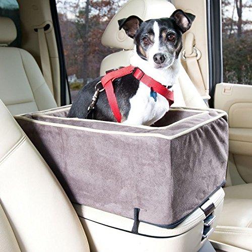 Snoozer Luxury Console Pet Car Seat, Large Luxury, Dk Chocolate/Buckskin front-996858