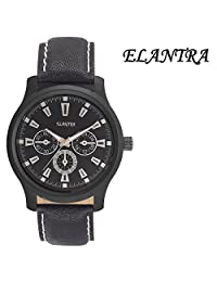Elantra Black Dial Mens Analog Watch El 039