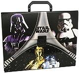 Star Wars - Maletín de cartón, color negro y gris (Montichelvo 40732)