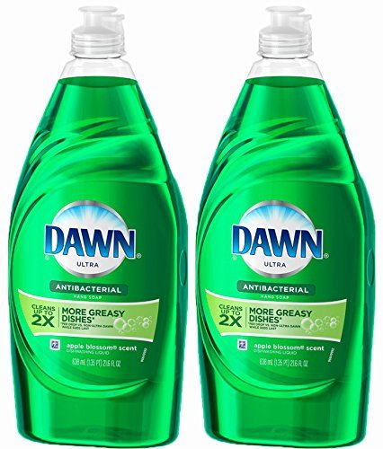 Dawn Ultra Antibacterial Dishwashing Liquid and Hand Soap, Apple Blossom Scent, 21.6 Ounce, Twin Pack... (Apple Dishwashing Detergent compare prices)