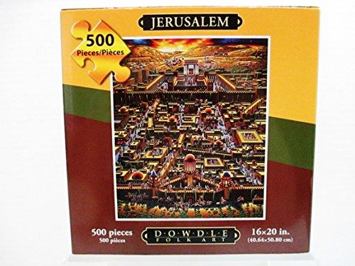 Jerusalem-Jigsaw-Puzzle-from-Dowdle-Folk-Art-500-Piece-Made-In-USA