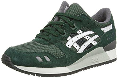 ASICS - Gel-Lyte Iii, Sneakers Basse da unisex - adulto, verde (dark green/white 8001), 41.5 EU