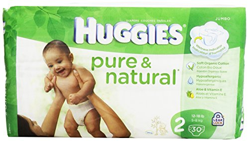 Huggies Pure and Natural Diapers, Size 2, Jumbo, 30 ct - 1