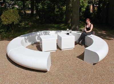 Garden Bench - Contemporary Orb Fibreglass Modern Furniture Set