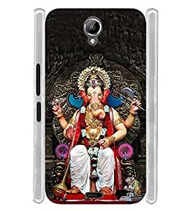 Lord Ganepati Vigneswara Soft Silicon Rubberized Back Case Cover for Xolo One HD