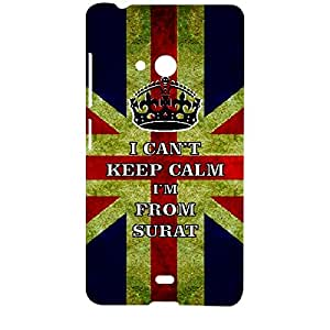 Skin4gadgets I CAN'T KEEP CALM I'm FROM SURAT - Colour - UK Flag Phone Designer CASE for MICROSOFT LUMIA 540
