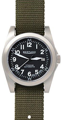 Da uomo Bertucci 13310 A-3T Navigator ti-Matic verde oliva in nylon nero orologio