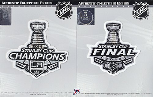 2014 NHL Stanley Cup Final Logo & Champions Jersey Patch L.A. Los Angeles Kings Combo (2014 Stanley Cup Champions Patch compare prices)