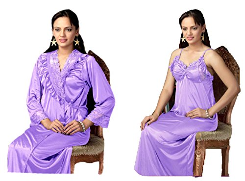 Hot N Sweet 9109 A Red n Blue Two pieces nighty Price in India  067753de3