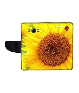 KolorEdge Printed Flip Cover For Samsung Galaxy A8 Multicolor - (1479-55KeMLogo10871SamA8)