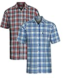 2pk Mens Champion Radstock Country Style Casual Short Sleeved Shirt 3XL