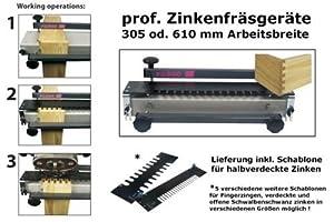 Zinkenfräse Zinkenfräsgerät 300 mm  BaumarktÜberprüfung und Beschreibung