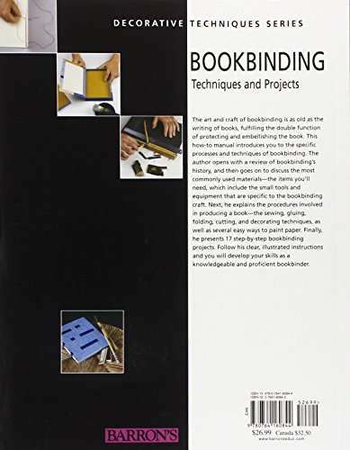 Bookbinding: Techniques and Projects (Decorative Techniques Series)