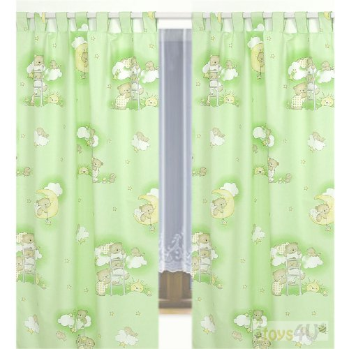 vorhang fertig gardine aus chiffon disney fairies tinkerbell 140 240 cm f r kinder. Black Bedroom Furniture Sets. Home Design Ideas