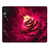 Pattern Pink Flower Mouse Pads Customized Made to Order Support Ready 9 7/8 Inch (250mm) X 7 7/8 Inch (200mm) X 1/16 Inch (2mm) High Quality Eco Friendly Cloth with Neoprene Rubber Liil Mouse Pad Desktop Mousepad Laptop Mousepads Comfortable Computer Mouse Mat Cute Gaming Mouse_pad