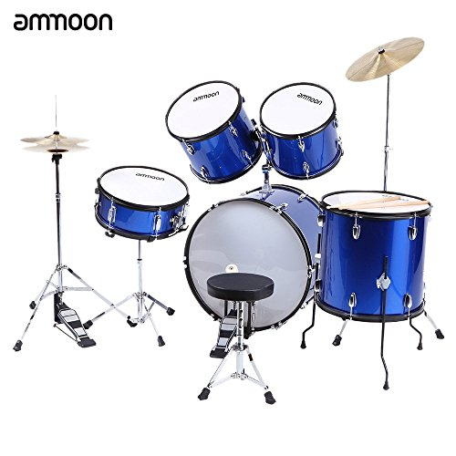 ammoon-5-piece-complete-adult-drum-set-drums-kit-percussion-musical-instrument-with-cymbals-drumstic