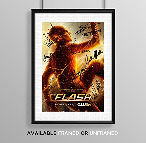 the-flash-cast-signed-autograph-signature-autographed-a4-poster-photo-print-photograph-artwork-wall-