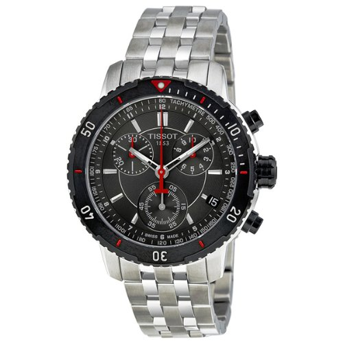 Tissot Men's T067.417.21.051.00 T-Sport Chronograph Metalic Textured Dial Watch