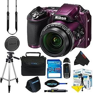 Nikon COOLPIX L840 Digital Camera (Purple) + 16GB Pixi-Basic Accessory Kit