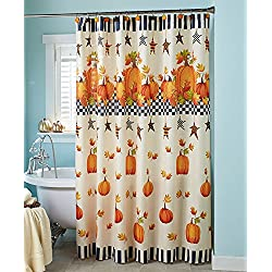 Pumpkin & Stars Shower Curtain