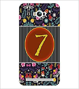 PrintDhaba Numerology Number 7 D-3094 Back Case Cover for ASUS ZENFONE MAX ZC550KL (2016) (Multi-Coloured)