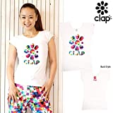 CLAP(クラップ) G-FLOWER(Gフラワー)ストレッチトップ(Tシャツ)