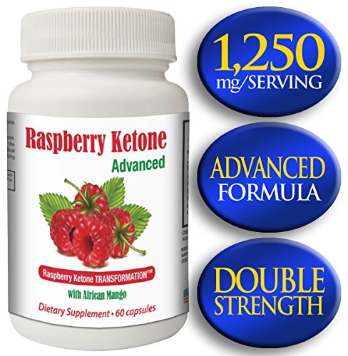 Raspberry Ketones Advanced | 550Mg Raspberry Ketone, 300Mg African Mango, 250Mg Acai Extract, 50Mg Hoodia | 60 Capsules - 30 Servings | Strongest On Amazon!