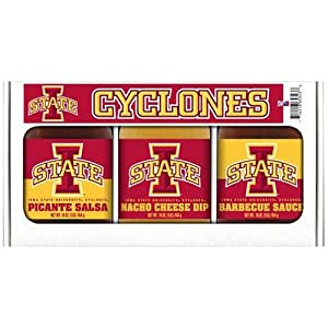 Iowa State Cyclones Ncaa Triple Play Gift Set 16oz Bbq Sauce 16oz Picante Salsa 16oz Cheeze Dip from Hot Sauce Harrys