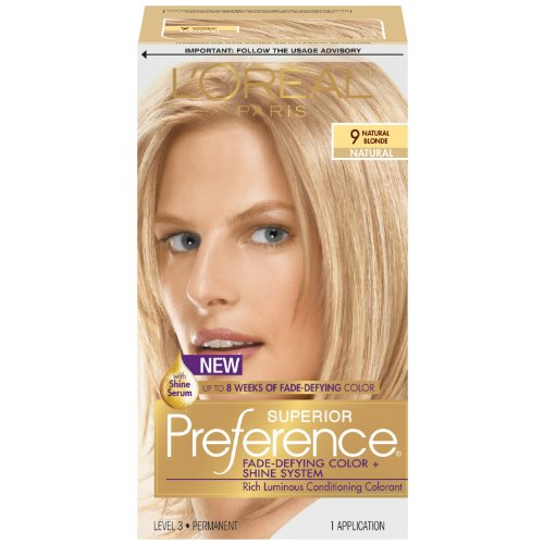 L'Oreal Paris Superior Preference Hair Color, 9 Natural Blonde