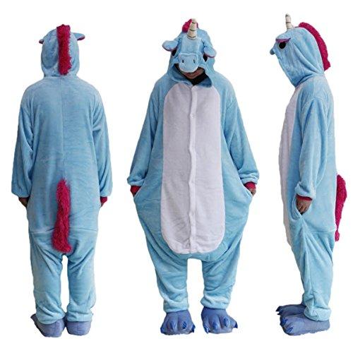 BS02Licorne-Bleu-MARQUE-BLACK-SUGAR-Kigurimi-Pyjama-Grenouillre-One-Piece-Licorne-Bleue-Pour-Adulte-Adolescent-Unisexe-Modle-Mixte-En-Peluche-Trs-Doux-Taille-S--XL-Trs-Confortable-Dguisement-Carnaval-