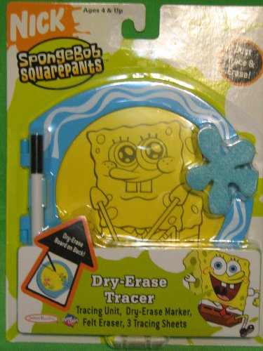 SpongeBob Squarepants Dry-Erase Tracer with Markers and Eraser