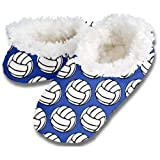 New Snoozies Volleyball Slippers - Blue - Size: Adult Medium 7-8