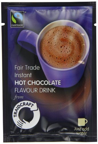 Traidcraft Fairtrade Instant Hot Chocolate Flavour Drink 22 g (Pack of 20)