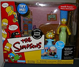 Simpsons Interactive Living Room Environment with Exclusive Marge & Maggie