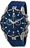 Edox Grand Ocean Chronograph Blue Dial Blue Rubber Mens Watch 10022-357B-BUIN