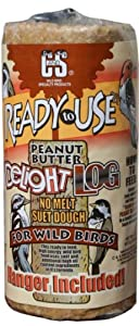 C & S Products RTU 2-Pound Peanut Butter Delight Log, 8-Piece