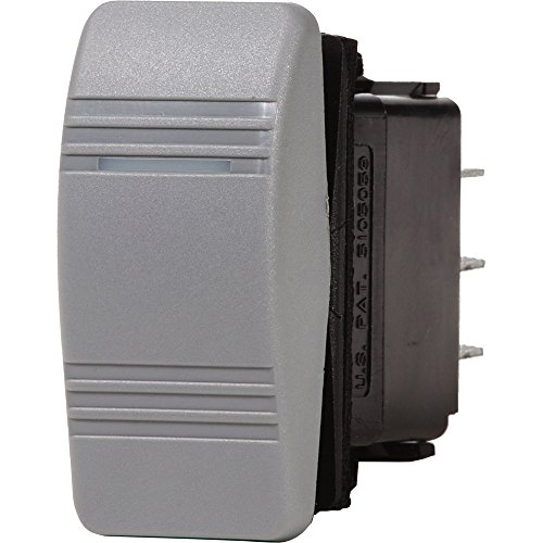 Blue Sea 7944 Contura III Switch SPDT - (ON)-OFF-ON - Gray - 1 Year Direct Manufacturer Warranty